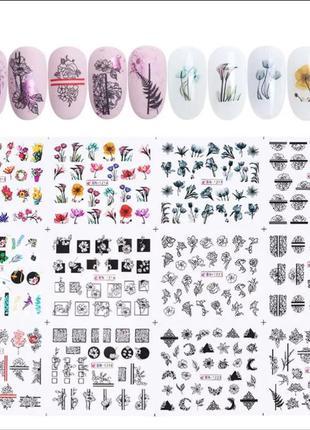 Набор слайдер-дизайнов для ногтей