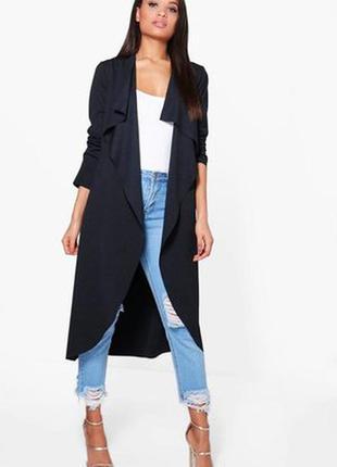Крутой длинный кардиган, пиджак.