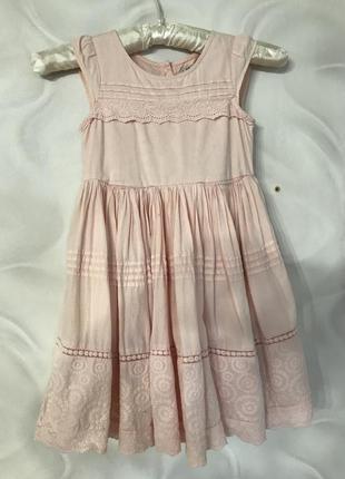 Хлопок прошва платье розовое
