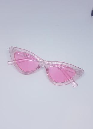 Женские солнцезащитные / имиджевые очки кошачий глаз / лисички...