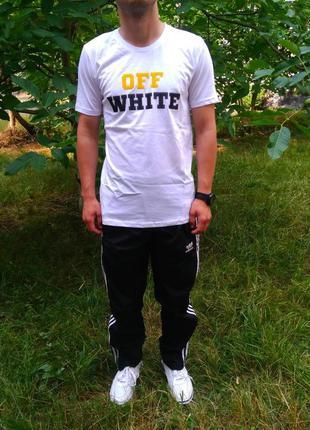 Мужская футболка off white