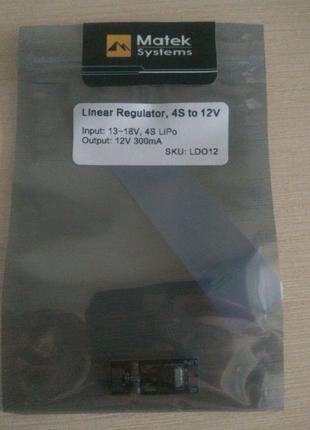 Преобразователь напряжения 4s на 12 вольт. Linear regulator