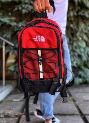 Рюкзак the north face красный с черным