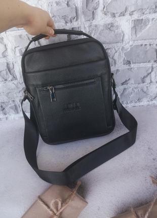 Мужская кожаная сумка чоловіча шкіряна сумочка с ручкой