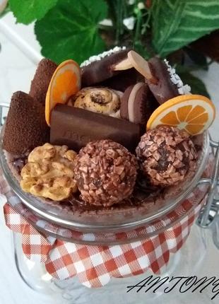 Баночка со сладостями-   handmade