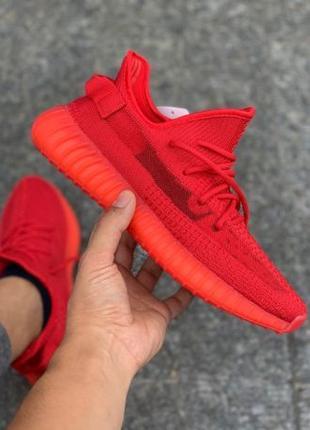 Кроссовки Adidas Yeezy Boost 350 V2 Red |Кросівки Адидас Изи Буст