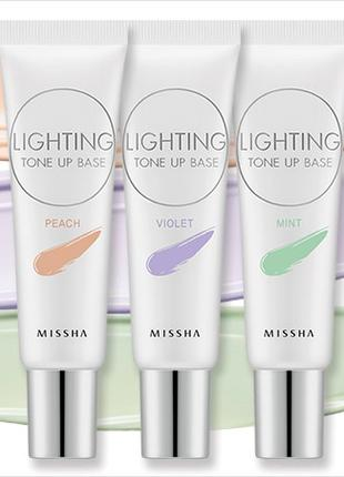 Корректирующая основа под макияж Missha Lighting Tone Up Base SPF