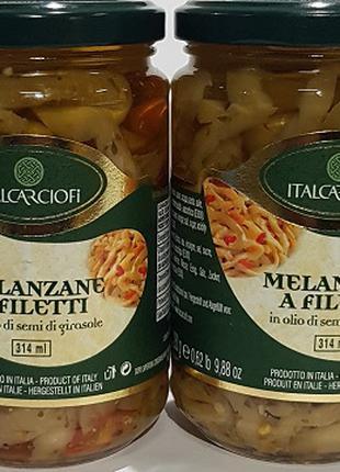 Філе баклажанів  в олії 314 мл, Італія.