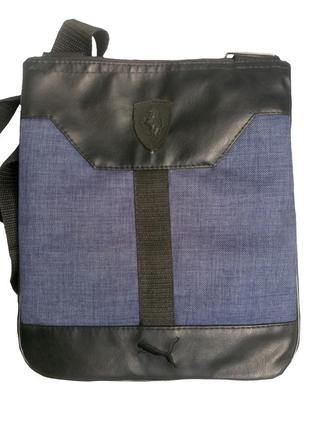 Сумка через плечо синяя, сумка мужская
