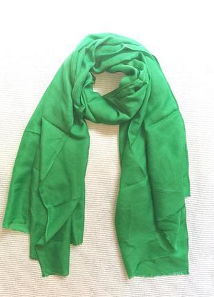 Легкий яркий зеленый шарф, снуд индия