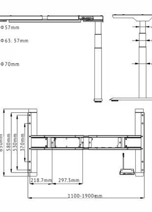 Стол с автоматическим регулированием высоты Loctek ET227 Белый