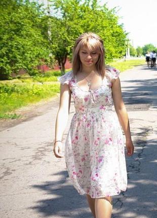 Нежное шифоновое платье!