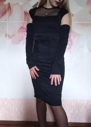 Черное элегантное платье! италия!