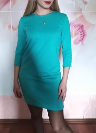 Весеннее платье цвет бирюза!