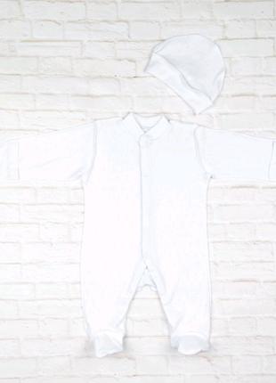 Комбинезон+шапочка для новорожденных 40.72