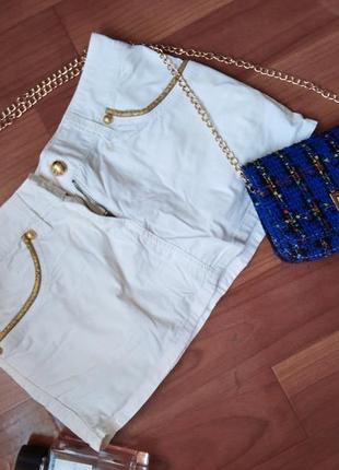 Белая мини-юбка оригинал!!!