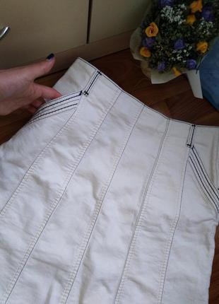 Джинсовая юбка с карманами! турция!