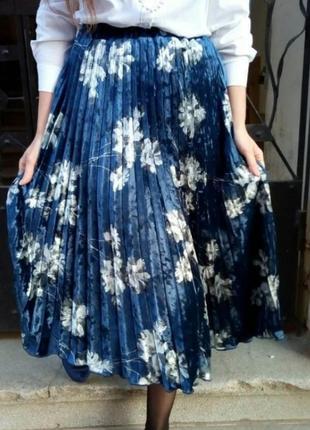 Шикарная юбка плиссе-гофре