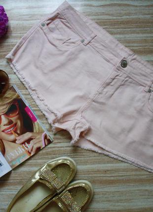 Джинсовые розовые мини шорты №250