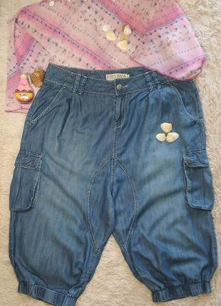 Женские летние бриджи широкие шорты легкие и мягкие р.54-56\eur46