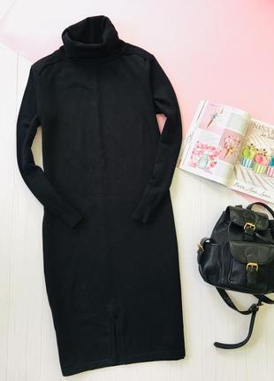 Тёплое миди  платье с длинным рукавом