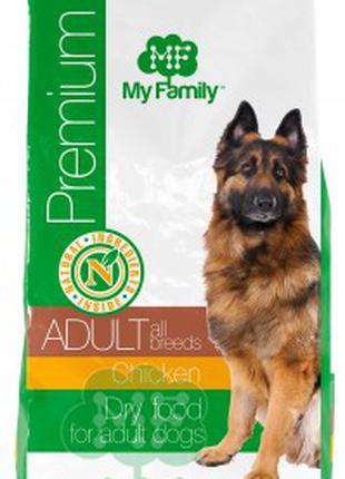 Сухой корм для взрослых собак всех пород с курицей MY FAMILY 12кг