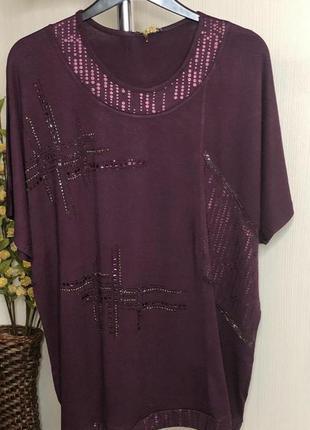 Туника блуза футболка женская батал/большие размеры. турция