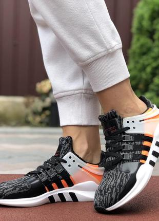 Классные женские кроссовки adidas equipment серые с чёрным