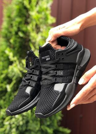 Крутые женские кроссовки adidas equipment чёрные