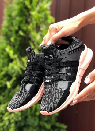 Прекрасные женские кроссовки adidas equipment чёрные с серым