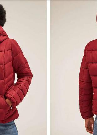 Женская зимняя стеганая куртка terranova, размер м, бирюзовая