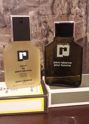 Paco Rabanne Pour Homme120ml + Paco Rabanne Sport edt 100ml
