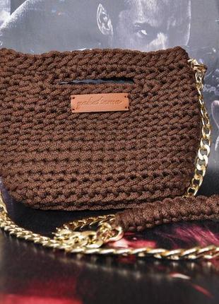 Маленькая сумочка шоколадка