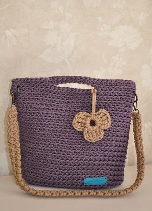 """Сумка-шоппер """"фиолет"""" hand made"""