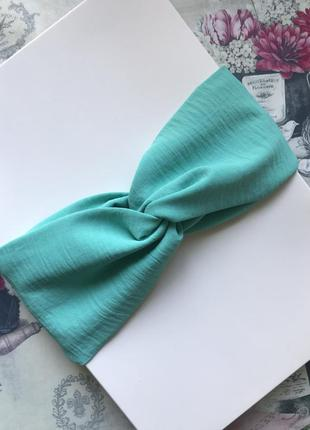 Широкая повязка на голову/тюрбан в бирюзовом цвете