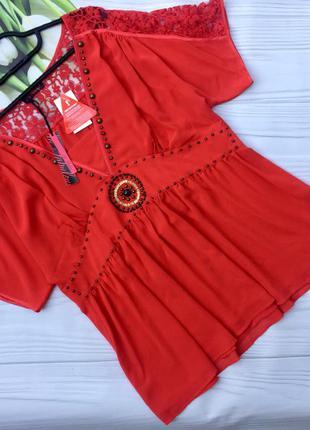 Шикарная нарядная блузка большого размера