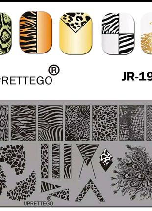 Пластины для стемпинга для ногтей маникюра пластини для стемпінгу