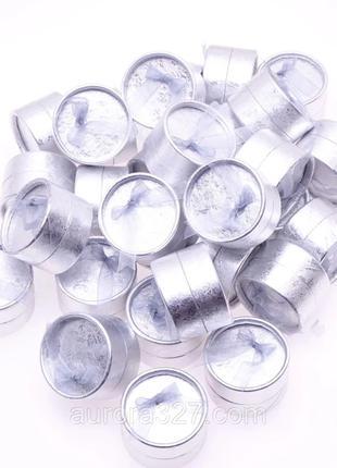 """Коробочка для кольца """"Круг серебро 5 х 5 х 3,5 см"""""""