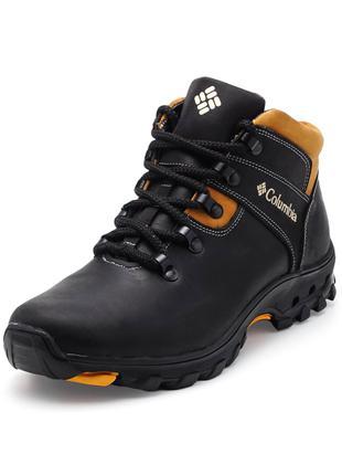 Мужские зимние ботинки(чоловічі черевики) из натуральной кожи