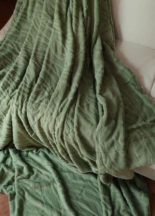 Плед  покрывало на кровать шиншила