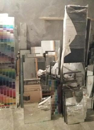 Зеркала серебро толщина 4мм. Оптовая продажа обрезков