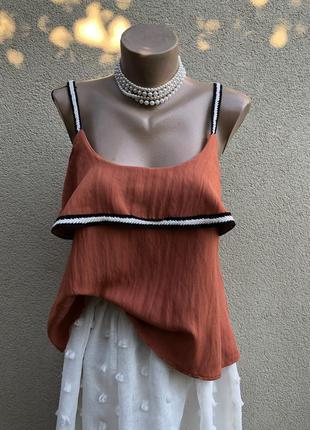 Блуза на брителях,майка открытой спиной,вискоза,этно бохо стил...