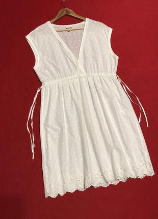 Легкое платье-накидка/прошва для дома и отдыха