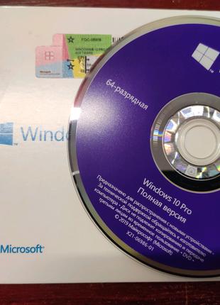 Windows 10 Pro OEM подлинные наклейки + ДВД диск