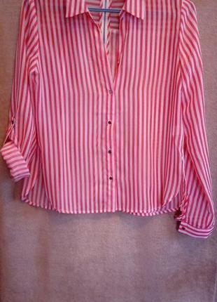 Стильная рубашка с декоративной молнией на спинке s-m