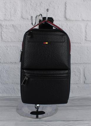 Мужская сумка слинг через плечо, рюкзак, борсетка bolo 1334 че...