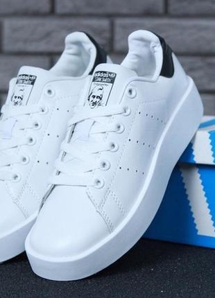 Женские кожаные кроссовки адидас \ adidas stan smith.