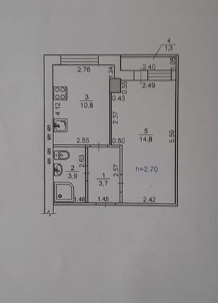 1 комнатная квартира рядом с парком Победы