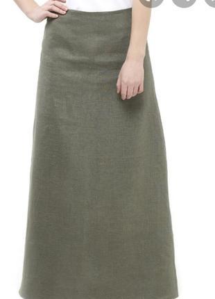 Легкая натуральная юбка с вышивкой р.18