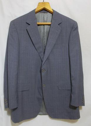 Пиджак светло-серый в полоску тонкая новая шерсть *canali* ита...